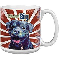 """Árbol de-free XM63170 20 oz de felicitación L-XL """"te mereces un it"""" vaso para llevar con Tapa con diseño de barco de perro Mascotas polvos de cerámica taza de café"""