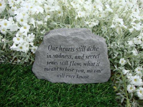 Commemorativa da giardino Accent. Our Hearts ancora Ache..Great Thoughts Garden Accents Graveside funerario con incisione a forma di targa
