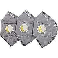 ROSENICE 3 Stück Erwachsene Mundmaske PM 2,5 Mundschutz Maske mit Aktivkohle Filter preisvergleich bei billige-tabletten.eu