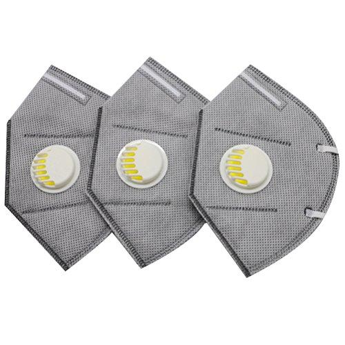 Healifty 3Pcs PM2.5 Máscara polvo Máscara anticontaminación
