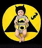 Cute Baby Newborn Infant handgefertigt Crochet Beanie Hat Batman Stil Baby Kleidung fotografiert Zubehör, Cartoon Fashion Kinder Fotografie Requisiten Foto Requisiten Kostüm Kleidung tragen (geeignet für Babys 0–46Monate zu tragen)