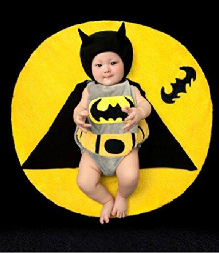 Cute Baby Newborn Infant handgefertigt Crochet Beanie Hat Batman Stil Baby Kleidung fotografiert Zubehör, Cartoon Fashion Kinder Fotografie Requisiten Foto Requisiten Kostüm Kleidung tragen (geeignet für Babys 0–46Monate zu (Batman Cartoon Kostüme)