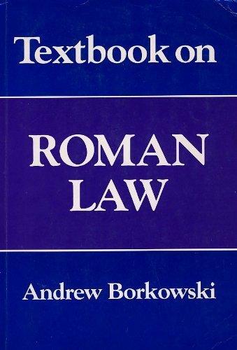 Textbook on Roman Law