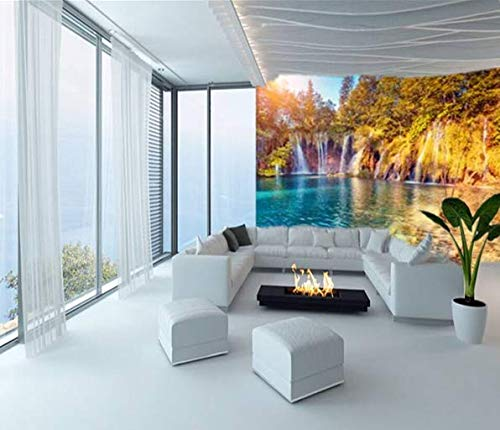 Fototapete Tapete Wanddeko Home Decor 3D Türkis Wasser Und Sunny Beams Selbstklebende Tapete Schlafzimmer Wandbild Decor, 350Cmx245Cm Sunny Beam