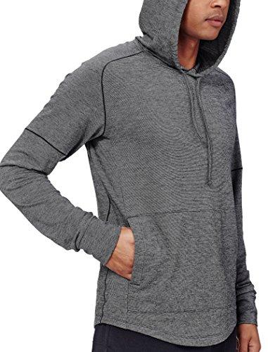 Icebreaker Uomo Momentum a maniche lunghe Hood Cover ups Black Heather/Snow