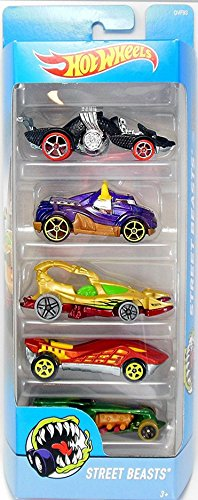 Hot Wheels Street Beasts 5 Car Gift Pack DVF93 (Styles May Vary, HW5PCDVF93)