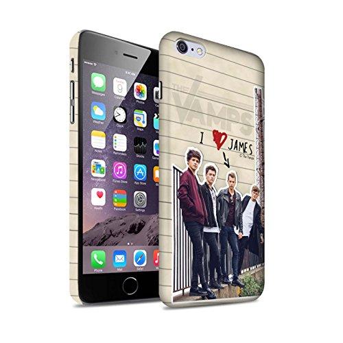 Officiel The Vamps Coque / Clipser Matte Etui pour Apple iPhone 6S+/Plus / Pack 5pcs Design / The Vamps Journal Secret Collection James