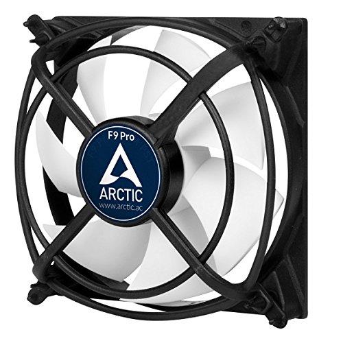 ARCTIC F9 Pro - 92 mm Gehäuselüfter mit Vibrationsabsorption | Case Fan für äußerste Laufruhe I patentierte schwingungsdämpfende Lüfterhalter