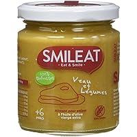 Smileat Petit Pot de Veau/Légumes 6+ Mois Bio 230 g - Lot de 6