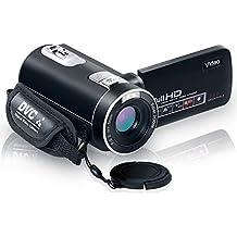 "Videocamara Full HD 1080p camara digital 24.0mp 18x zoom digital LCD de 2.7 ""270 ° de rotacion de pantalla con control remoto"