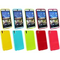 Emartbuy® HTC Desire Eye Shiny Gloss Gel Hülle Schutzhülle Case Cover Packung 5 Hot Rosa, Rot, Blau, Gelb, Grün