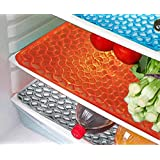 Komfort Creation Refrigerator Drawer Mats / Fridge Mats/ Multi Purpose Mats Set Of 3 Pcs (Multi_color )