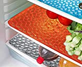 #4: Komfort Creation Refrigerator Drawer Mats / Fridge Mats/ Multi Purpose Mats Set Of 3 Pcs (Multi_color )