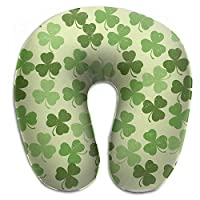 Bikofhd Retro Four Leaf Clover Shamrocks Vintage U Shaped Pillow Neck Head Cushion Support Rest Outdoors Car Office Home Travel Pillow