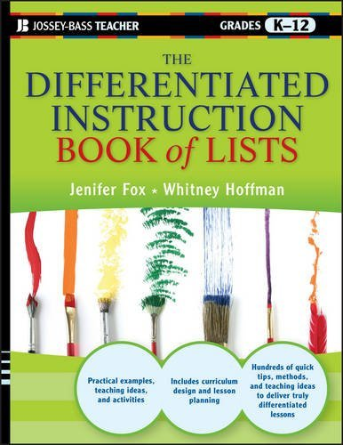 The Differentiated Instruction Book of Lists by Jenifer Fox (2011-08-30)