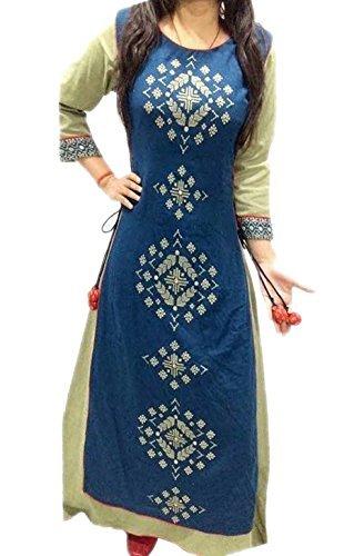 6. Kurti (Women's Clothing Kurti for women latest designer wear Kurti collection in latest Kurti beautiful bollywood Kurti for women party wear offer designer Kurti) (cream)