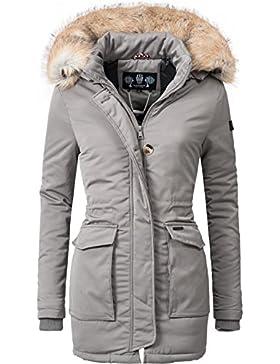 Navahoo Damen Winter-Jacke Winter-Mantel Schneeengel (vegan hergestellt) 7 Farben + Camouflage XS-XXL