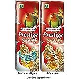 Versele Laga - Bastoncini di prelibatezze Prestige Sticks per pappagalli grandi, frutti esotici, 2pezzi