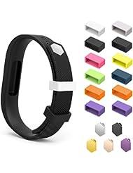 MoKo Fitbit Flex 2 Anillo de Sujeción - [12 PZS] Reemplazo de Silicona Cierres Fastener Ring Broches SOLO para Fitbit Flex 2 Pulsera, ( No Incluye el Rastreador y Muñequera )
