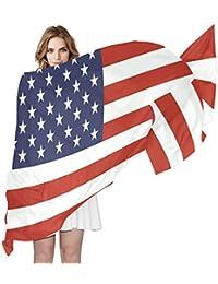 3d5b8670e74b COOSUN Drapeau américain Foulard en soie légère longue écharpe pour les  femmes ...