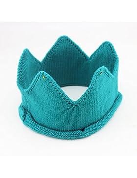 Lovely Knit Crochet Imperial Corona Diadema Headwear Photo Prop Trajes para bebé