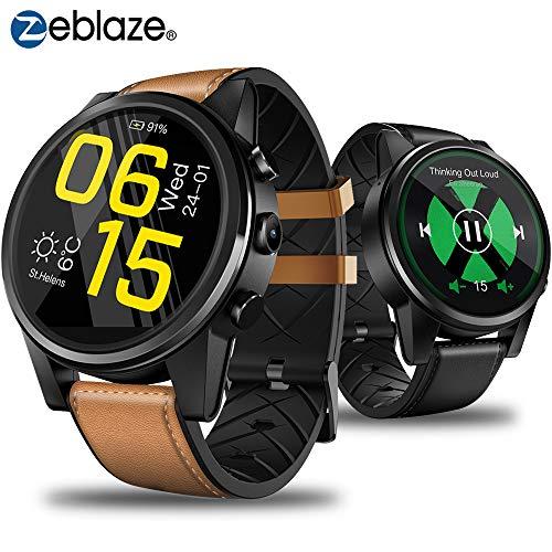 Zeblaze Thor 4 Pro 4G Smartwatch Bluetooth 4.0 Smart Watch Quad Core 1GB+16GB 1,6 Zoll IPS Kristallanzeige GPS Sportuhr für Männer Frauen Kompatibel mit iPhone/Samsung/Huawei/LG und Android-Telefonen