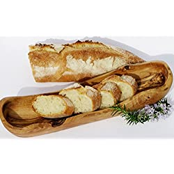 Madera de Olivo Panera Baguette. Cesta de Baguette: cuenco (Madera especialmente para Baguette. 25cm-28cm. Original Figura Santa Calidad.