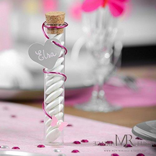 Reagenzgläser Glasröhrchen mit Korken, 10 cm, 48 Stück im Karton, Hochzeit Taufe Kommunion