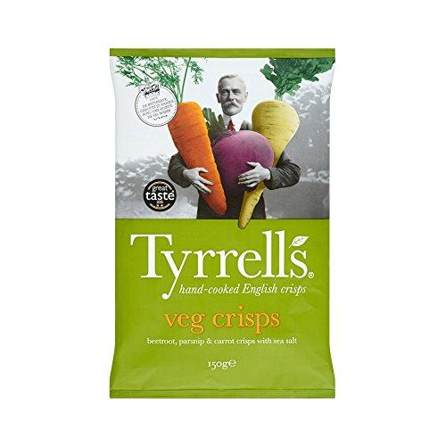 Tyrrell's Chips Légumes Betterave/Panais/Carotte/Pincée Sel 150 g - Lot de 4