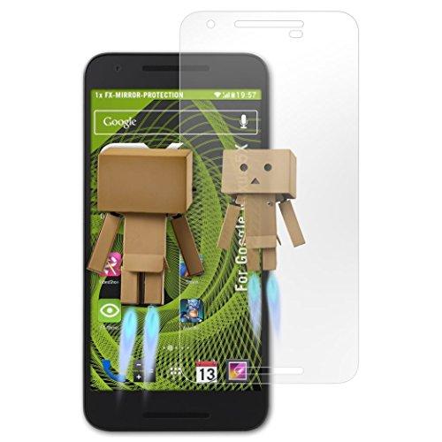 atFolix Displayfolie kompatibel mit Google Nexus 5X Spiegelfolie, Spiegeleffekt FX Schutzfolie