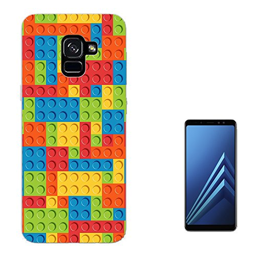 003316 - Multi Blocks Logo Fun Print Design Samsung Galaxy A6 (2018) 5.7