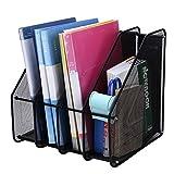 Itoda Desk file organizer mesh Magazine Holder file rack Holder 3/4scomparti Book Sorter mensola cestino in rete metal desktop Shelf divisori Home Office Desk Book Sorter 4 Sections