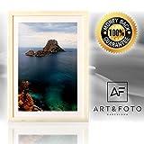 Marco de fotos hecho a mano 100% artesanal de madera y cristal de alta calidad tamaño DIN A3 cuadrado 30x42....