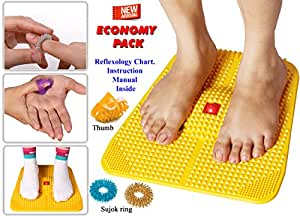 Acupressure Power Mat with Magnets n Pyramids for Pain ...