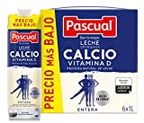 Pascual Leche Calcio Entera - Paquete de 6 x 1000 ml - Total: 6000 ml