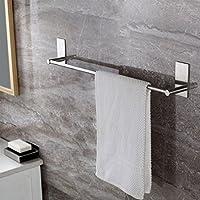 Ruicer Selbstklebende Handtuchstange Handtuchhalter Ohne Bohren aus Gebürstetem Edelstahl 55cm (Heimwerken)