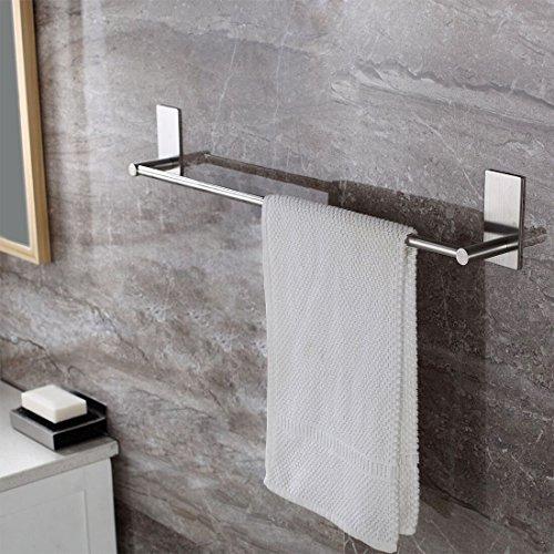 Selbstklebende Handtuchstange Handtuchhalter Ohne Bohren aus Gebürstetem Edelstahl 70cm