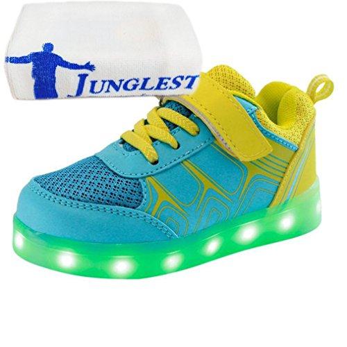 Kinder Gelb Jungen Led junglest® Light Sp Sneakers Mädchen Handtuch Fluorescence present kleines xP1Hff