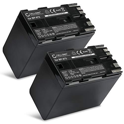 CELLONIC 2X Batterie Compatible avec Canon XF100 XF105 XF200 XF205 XF300 XF305 G-1000 XL1s XL1 XL2 EOS C100 Mark II C300 C500 GL2 GL-1 XM1 XM2 XL-H1 BP-975 BP-955 BP-925 BP-970 7800mAh Accu Rechange
