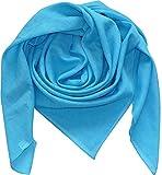Harrys-Collection Damen Herren Baumwolltuch in vielen Farben 100 x 100 cm, Größen:Einheitsgröße, Farben:türkis meliert