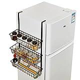 YYHSND Kühlschrank Rack Side Wall Seite Seite Lagerregal Kühlschrank Küche Gewürzregal Kostenlose Perforierte Kühlschrank Rack Küche lagerung
