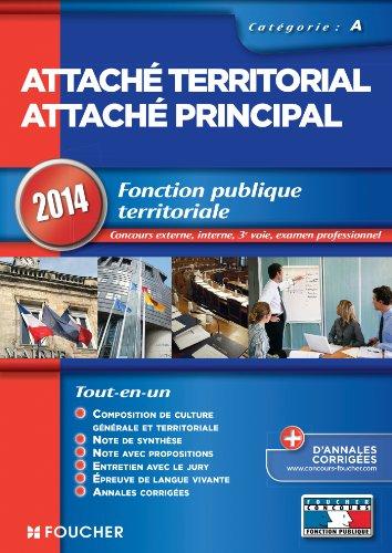 Attaché territorial Attaché principal 2014 catégorie A