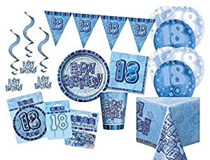 Unique Party Party Kit Color azul 63765