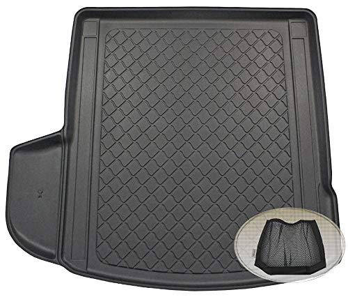 ZentimeX Z3292259 Gummierte Kofferraumwanne fahrzeugspezifisch + Klett-Organizer (Laderaumwanne, Kofferraummatte)