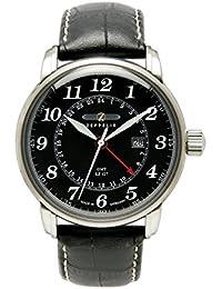 Zeppelin Herren-Armbanduhr XL LZ127 Graf Analog Quarz Leder 76422