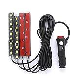 #9: White LED Car Interior Under Dash Foot Lighting Kit | LED Accent Light, 4 x 6