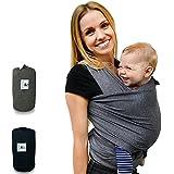 Saller fastique Kids Pañuelo Baby (520cm X 55Cm) elástico portabebés–Paños Früh de y Recién Nacidos de transporte con instrucciones–Transporte de otros colores
