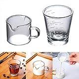Rich-home Premium Latte Glass Mugs Kaffeetasse Latte Cup, hitzebeständiges Glas -
