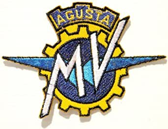 """MV AGUSTA Motorcyles Motorrad Biker Embroidered Sew iron on Patch Dimensions:ca 4""""Width x 3""""Height Ecusson brode Ecussons Imprimes Ecussons Thermocollants Broderie Sur Vetement Ecusson Sold SSLINK"""