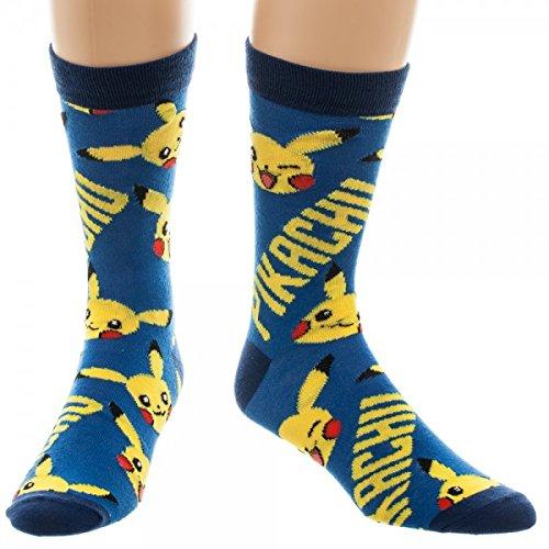 Tripulacin-Calcetines–Pokemon–Pikachu-All-Over-Print-nuevos-juguetes-cr3gwzpok